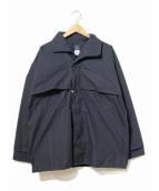 POST OALLS(ポストオーバーオールズ)の古着「ワークジャケット」 ネイビー