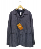 POST OALLS(ポストオーバーオールズ)の古着「PST EG JK CD7」 ネイビー