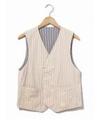 Engineered Garments(エンジニアードガーメンツ)の古着「リバーシブルベスト」|ベージュ