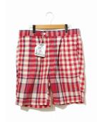 Engineered Garments(エンジニアードガーメンツ)の古着「チェックショーツ」|レッド