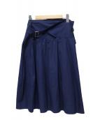 LIMI feu(リミフゥ)の古着「ラップスカート」|ネイビー