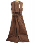 RIM.ARK(リムアーク)の古着「サロペット」|ブラウン
