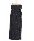 mame kurogouchi(マメ クロゴウチ)の古着「Sarasa Jacquard  Skirt」|ネイビー