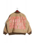 N.HOOLYWOOD(エヌハリウッド)の古着「レタリングプリントMA-1」|ベージュ