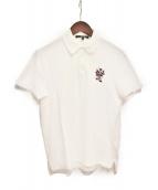 GUCCI(グッチ)の古着「エンブロイダリーロゴポロシャツ」|ホワイト