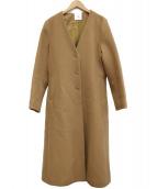 IENA LA BOUCLE(イエナ ラ ブークル)の古着「ノーカラーコート」|キャメル