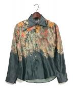 NO ID.×LOADED(ノーアイディー×ローデッド)の古着「グラデーションフラワープリントワイドカラーシャツ」