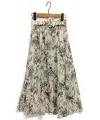 Mila Owen(ミラオーウェン)の古着「ウエストゴムベルト付フレアスカート」|ブラック