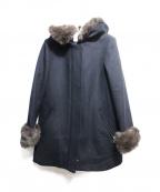 ef-de(エフデ)の古着「フーデッドコート」|ネイビー