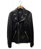 ALL SAINTS(オールセインツ)の古着「レザーダブルライダースジャケット」|ブラック