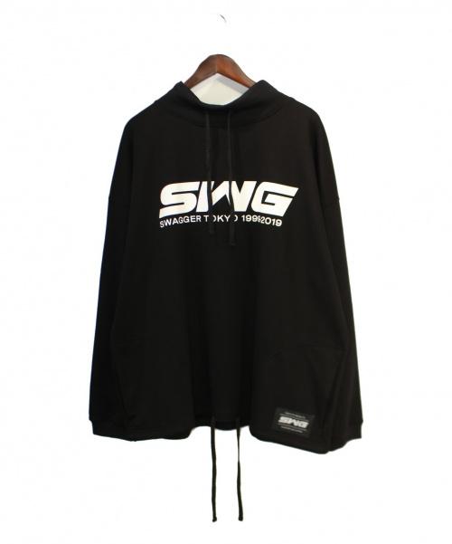 SWAGGER(スワッガー)SWAGGER (スワッガー) モックネックスウェット ブラック サイズ:Mの古着・服飾アイテム