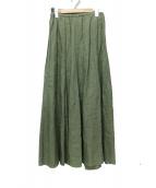 Plage(プラージュ)の古着「リネンフレアスカート」 オリーブ