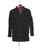 D.HYGEN(ディーハイゲン)の古着「cotton wool cardigan」|ブラック