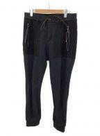 D.HYGEN(ディーハイゲン)の古着「切替パンツ」 ブラック
