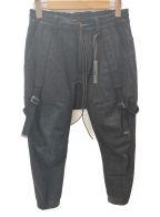 D.HYGEN(ディーハイゲン)の古着「ベルテッドパンツ」 ブラック
