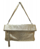 GIANNI CHIARINI(ジャンニ・キャリーニ)の古着「2WAYクラッチバッグ」|ゴールド
