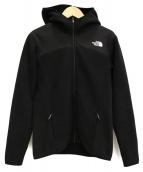 THE NORTH FACE(ザノースフェイス)の古着「フーデットフリースジャケット」|ブラック