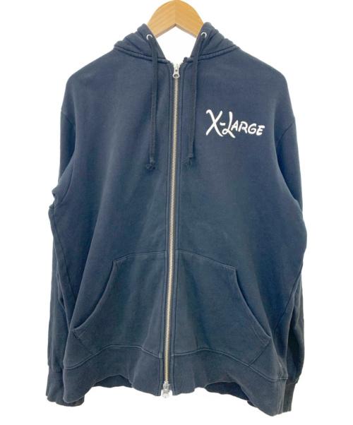 X-LARGE(エクストララージ)X-LARGE (エクストララージ) ジップパーカー ブラック サイズ:Mサイズ DISNEYコラボパーカー 0104218の古着・服飾アイテム