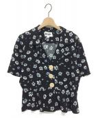 Rouje(ルージュ)の古着「Jonquille JOSE フラワーブラウス」|ブラック