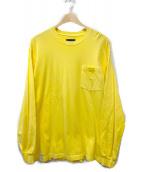DESCENDANT(ディセンダント)の古着「ポケットTシャツ」|イエロー