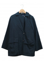 HUMAN WOMAN(ヒューマンウーマン)の古着「カラーハーフコート」 ネイビー