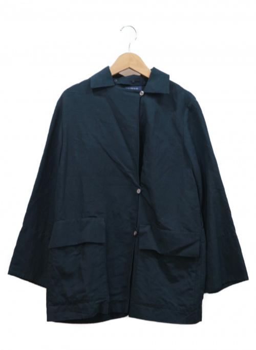 HUMAN WOMAN(ヒューマンウーマン)HUMAN WOMAN (ヒューマンウーマン) カラーハーフコート ネイビー サイズ:Sの古着・服飾アイテム