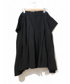 COMME des GARCONS COMME des GARCONS(コムデギャルソンコムデギャルソン)の古着「ウールギャバジンプリーツスカート」|ブラック
