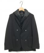tricot COMME des GARCONS(トリココムデギャルソン)の古着「フリルベストレイヤージャケット」 ブラック