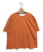 SAYAKA DAVIS(サヤカ デイヴィス)の古着「ドレープバックカットソー」|オレンジ