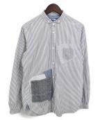 JUNYA WATANABE COMME des GARCON MAN(ジュンヤワタナベ コムデギャルソン マン)の古着「パッチワークシャツ」|ホワイト×グレー
