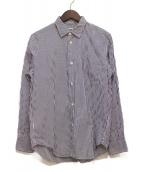 eYe COMME des GARCONS JUNYAWATANABE MAN(アイコムデギャルソンジュンヤワタナベマン)の古着「ストライプシャツ」|ホワイト×ブルー