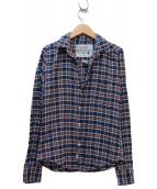 Frank&Eileen(フランクアンドアイリーン)の古着「コットンチェックシャツ」|ネイビー