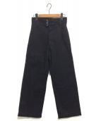 tricot COMME des GARCONS(トリコ コムデギャルソン)の古着「2ベルトパンツ」 ブラック