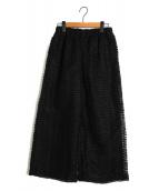 tricot COMME des GARCONS(トリコ コムデギャルソン)の古着「ワイドパンツ」|ブラック