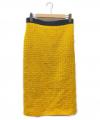 GUCCI(グッチ)の古着「ツイードスカート」|イエロー