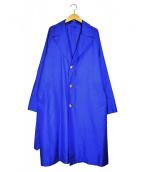 DESIGNWORKS(デザインワークス)の古着「シルク撥水コーティングコート」 ブルー