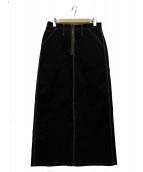 UNIVERSAL OVERALL(ユニバーサルオーバーオール)の古着「ペインタースカート」|ブラック