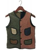 KAPITAL(キャピタル)の古着「クレイジー裏毛ビーチベスト」|ブラウン