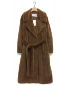 LE CIEL BLEU(ルシェルブルー)の古着「フェイクファーローブコート」 キャメル