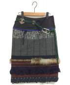 KOLOR(カラー)の古着「PATCHWORK MIDI SKIRT」