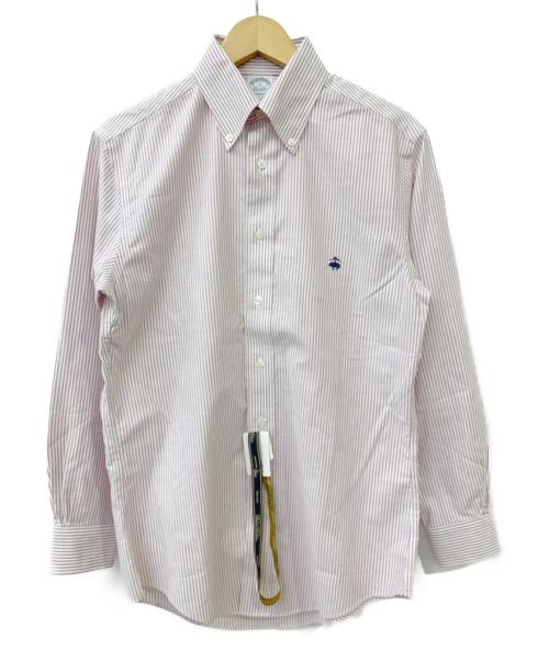 BROOKS BROTHERS(ブルックスブラザーズ)BROOKS BROTHERS (ブルックスブラザーズ) ストライプシャツ ピンク×ホワイト サイズ:Sサイズ タグ付の古着・服飾アイテム