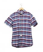 BROOKS BROTHERS Red Fleece(ブルックスブラザーズレッドフリース)の古着「半袖チェックシャツ」|ブルー