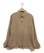 iNtimite(アンティミテ)の古着「フリルカフスシャツ」|ベージュ