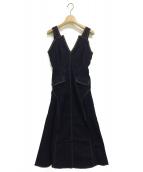 Ameri VINTAGE(アメリビンテージ)の古着「STUDS DENIM DRESS」 インディゴ