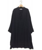 ETRE TOKYO(エトレトウキョウ)の古着「ドロストワンピース」|ブラック