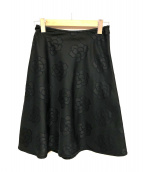 MS GRACY(エムズグレイシー)の古着「フレアスカート」|ブラック