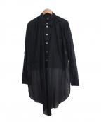 Jean Paul Gaultier homme(ジャンポールゴルチェオム)の古着「フロントロングシャツ」 ブラック