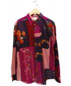 Paul Smith London(ポールスミスロンドン)の古着「プリントシャツ」|パープル