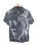 Jean Paul Gaultier homme(ジャンポールゴルチェオム)の古着「フェイスプリントシャツ」 ネイビー