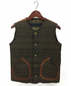 KAPITAL(キャピタル)の古着「裏毛ボーダーベスト」|ブラウン